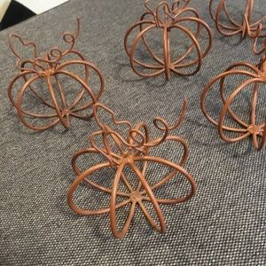 Wire Pumpkins!🎃 Name card holders(Wedding/Party)